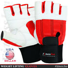 Weight Lifting Gloves Body Building Gym Fitness Training Long Wrist Supports