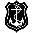 (AN-1) ANCHOR SEA BOAT SHIP HOOKS CAR NAVY ARMY WINDOW VINYL DECAL STICKER