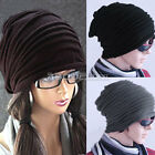 Retro Unisex Women Men Oversized Cable Knitted Knit Baggy Slouch Beanie Hat Cap