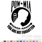 POW MIA FLAG MILITARY ARMY HARLEY CHOPPER CAR WINDOW VINYL DECAL STICKER (PM-01)