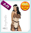 Pocahontas Native American Indian Princess Wild West Fancy Dress Party Costume