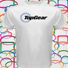 New TOP GEAR Automobile Automotive Magazine Logo Men's White T-Shirt Size S-3XL