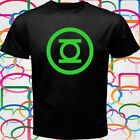 New GREEN LANTERN LOGO COMIC SUPERHERO COOL Men's Black T-Shirt Size S-3XL