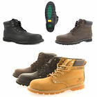 Mens Size 6 -13 Leather Steel Toe Cap Safety GROUNDWORK Work Boots Lace Up Shoes