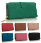 New Womens Trendy Chain Detail Flap Opening Plain Coin Purse Wallet