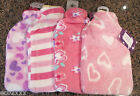 "Hot Water Bottle With Fleece Cover Std Size 13"" x 8"" 4 Designs You Choose"