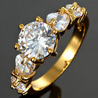 Wedding Party Jewelry Yellow Gold Filled Fashion Engagement Ring Size 6/7/8