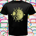 Time Team British Tv Show Tony Robinson Men's Black T-Shirt Size S to 3XL image