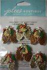 NEW  CHRISTMAS * Your Choice  *Xmas Ornaments Reindeer Pinecone JOLEE'S STICKERS