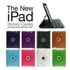 Leather Rotating Case For Apple iPad Air + Screen Protector & Big Stylus Pen