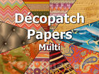 Decopatch Paper/Sheets for Decopatch Glue Multi Colours 99p & Only one p/p