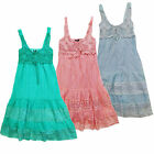 Womens Stella Morgan Elasticated Back Strappy Summer Flower Lace Dress