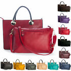 Big Handbag Shop Womens Designer Top Handle Semi Structured Two in One Tote Bag