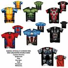 Marvel Superhero Sublimated Costume Tee Shirts Spiderman Thor Deadpool Hulk