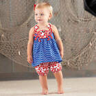 Mud Pie Boathouse Baby Blue Red Crab Short Set Size 3M-3T #1112101 NWT