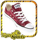 Converse - Chucks - All Star OX Low Maroon Rot M9691 - Schuhe NEU - Gr. 35 - 48