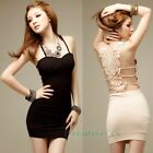 Fashion Sexy Backless Howllow Out Lace Floral Bra Clubwear Party Mini Dress New