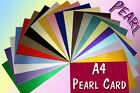A4 Pearlescent Pearlised Shimmer Card 300gsm Various Colours Pack 10 20 40 LST