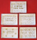 Rubber Stamps Thank You Wish For You Note Of Thanks With Love Choice of 5