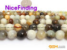 """Hua Show Jade Round  Stone Mixed Color Craft Jewelry Making Design Beads  15"""""""