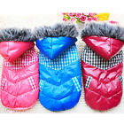 Puppy Pet Dog Apparel Down Coat Small Dog Jacket Hooded Clothes Clothing 3 Color