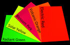 A4 Fluorescent Bright Coloured Card 300gsm 5 Colours card Pack 10 20 40 GPT