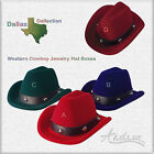 Western Cowboy Hat Gift Box Dallas Collection Ring Earrings Body Jewelry etc.