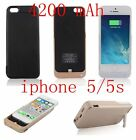 4200mAh Power Pack External Backup Battery Charger Case Cover For iPhone 5 5s