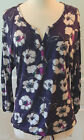 Daisy Fuentes~ Purple Floral 3/4 Sleeve Rayon Blouse~Size S~NWT