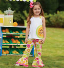 Mud Pie Tutti Frutti Pant Set 3M-3T Baby Toddler Girls #1112148 NWT