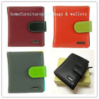 Ladies Full Grain Genuine Leather... New RFID Protected Card Holder Small Wallet