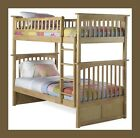 Kids Wood Bunk Bed Twin over Twin - Natural Maple