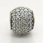 Authentic Genuine 925 Sterling Silver Pave CZ Ball Lights Charm Bead 2017