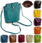 New Mini Faux Leather Long Strap Cross Body Press Lock Messenger Bag