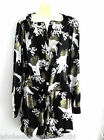 NEW LADIES BLACK WHITE BIRD PRINT TUNIC SHIRT TOP PLUS SIZE 16 18 20 22-24 26-28