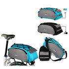 Favorable 13L Bike Cycling Bicycle Rear Carrier Bag Reflective Straps Velcro