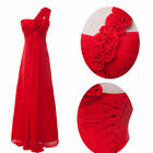 Long Chiffon Evening Formal Party Ball Gown Prom Bridesmaid Dress6 8 10 12 14 JS