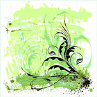 Reusable & Removable Large Wall Decal-Ornament Flowers Artwork Floral Design Art