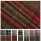 100% Traditional Scotish Upholstery Wool Woven Tartan Check Curtain Tweed Fabric