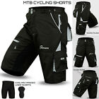 MTB Cycling Short Off Road Cycle With Liner Shorts CoolMax Padded S to XL