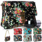 Big Handbag Shop Small Messenger Cross Body Oilcloth Floral Print Shoulder Bag