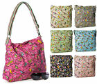 Big Handbag Shop New Womens Designer Canvas Aztec Bird Messenger Cross Body Bag