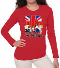 T-SHIRT 1D ONE DIRECTION GROUP CARTOON DONNA E RAGAZZA SAGOMATA MANICA LUNGA