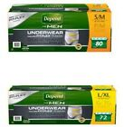 Depend for Men Underwear, Maximum Absorbency, Small-Medium-Large-XL, 56/72 Count