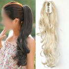 Natural  Ladies Girls Clip in On Long Curly Wavy Ponytail Hair Extension Piece