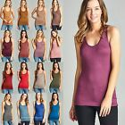 Women's Racerback RAYON Tank Top Super Soft Stretchy Basic Sleeveless T1496 8497