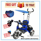 Wellsun 4-in-1 Children Tricycle Baby Kid Trike 3 Wheel Bike Parent Handle_NEW