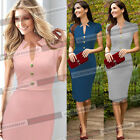 Women Pinup Celebrity Wear To Work Cocktail Shift Tunic Bodycon Pencil Dress 353