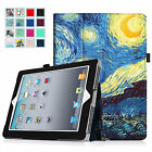 Folio Stand Smart Leather Case Cover for iPad 2/3/4 iPad with Retina Display