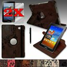 PU Leather Case Cover 360 Rotating Stand For Samsung Galaxy Tab2 7.0 USA Seller